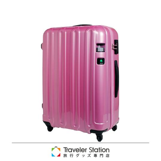 福利品《Traveler Station》CROWN煞車輪旅行箱-24吋珠光粉紅