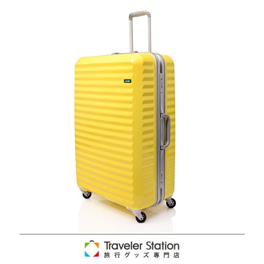 《Traveler Station》LOJEL 29吋波纹铝框拉杆箱-奶油黄