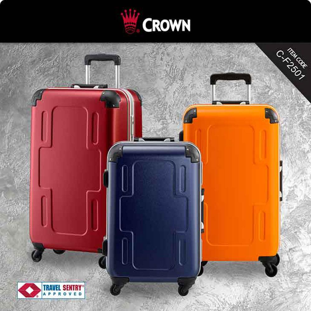 《Traveler Station》CROWN 皇冠 十字造型 29吋 旅行箱 行李箱-三色可选