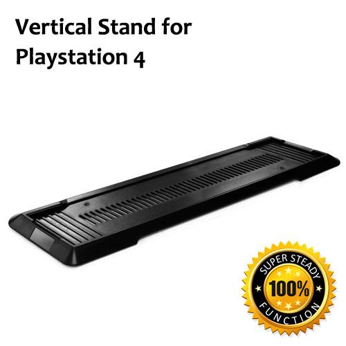 PS4 CECH 4000 主機專用直立架-黑 (KHPS4-01BK)