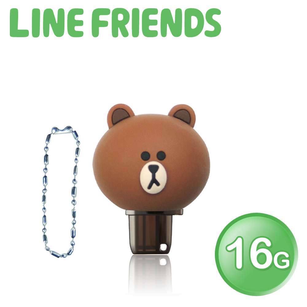 【加送愛心杯墊】LINE FRIENDS 立體造型 16GB OTG雙介面隨身碟 QQ熊大