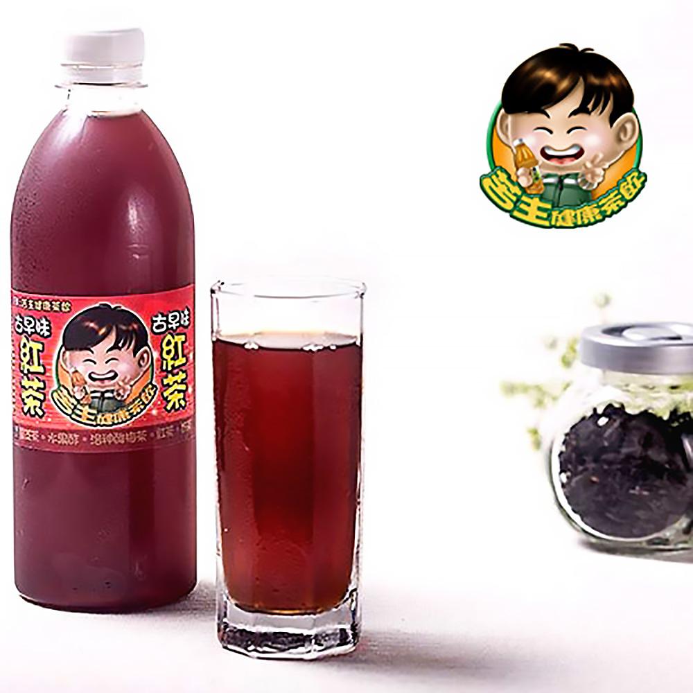 《苦主健康茶飲》古早味紅茶(450ml±5%/瓶,共六瓶)
