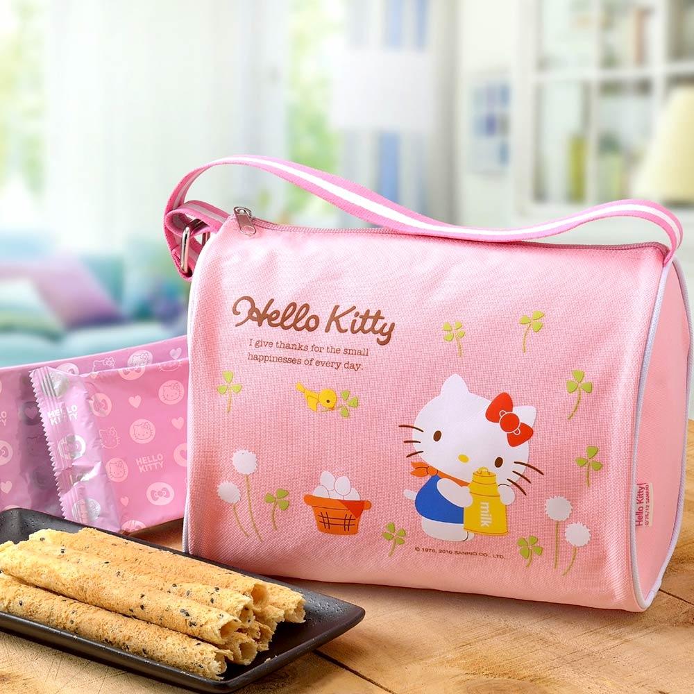 2018春節預購《Hello Kitty》芝麻蛋捲禮盒-自然風A