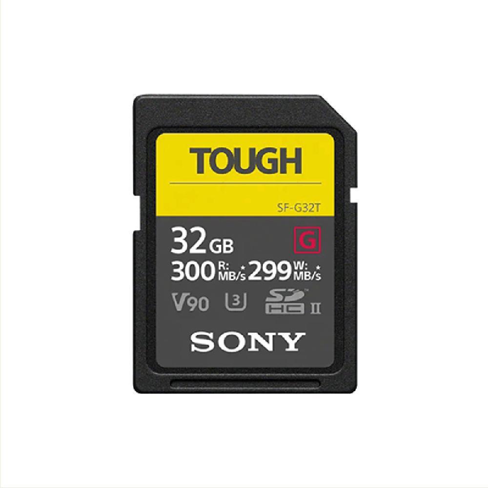 【SONY 索尼】SDXC U3 32GB 超高速防水記憶卡 SF-G32T(公司貨)