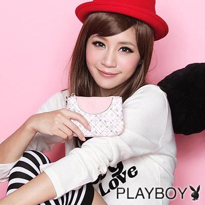 PLAYBOY-M- MUFFY系列零錢包-粉色