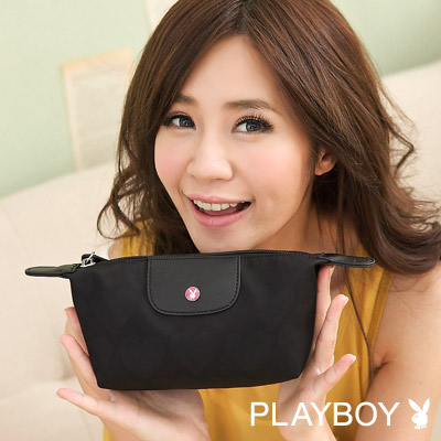 PLAYBOY-D-DRESSING-化妝包-黑色