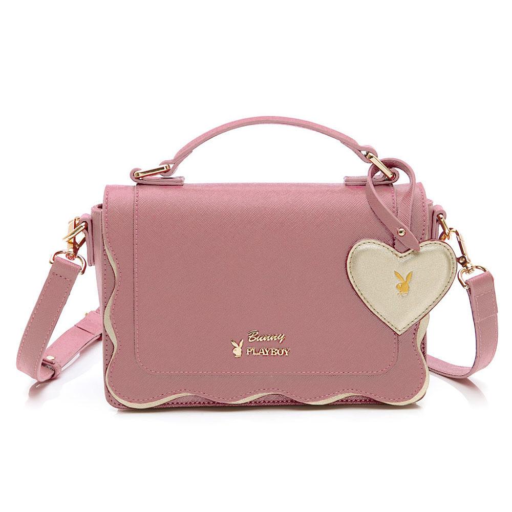 PLAYBOY- 手提包附長背帶 薔薇花語系列-粉色