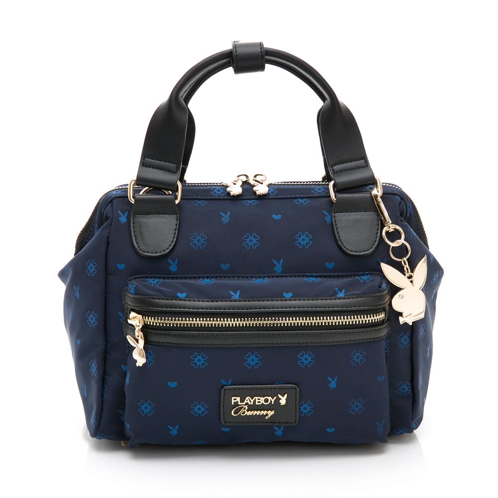 PLAYBOY- 手提包附長背帶可後背 永恆深藍 -藍色
