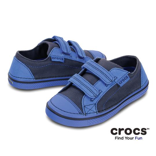 【Crocs】童-皓翔輕便童鞋-深藍/寶藍色