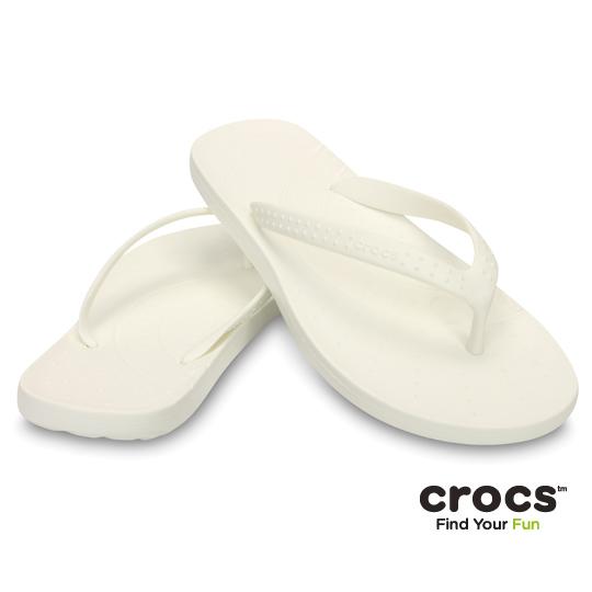 【Crocs】中性-男女-彩威夷人字拖 (白色)