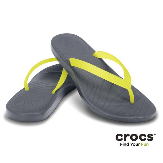 【Crocs】女- OM瑪里雅 2 代 (炭灰/ 蘋果綠色)