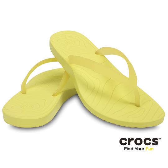 【Crocs】女- OM瑪里雅 2 代人字拖 (柔黃色)