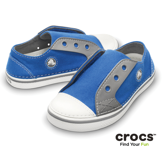 【Crocs】童- 皓翔輕便童鞋 (寶藍/烟灰色)