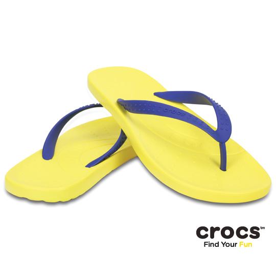 【Crocs】中性-男女-彩威夷人字拖 (陽光蔚藍色)