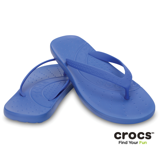【Crocs】中性-男女-彩威夷人字拖 (學院藍)