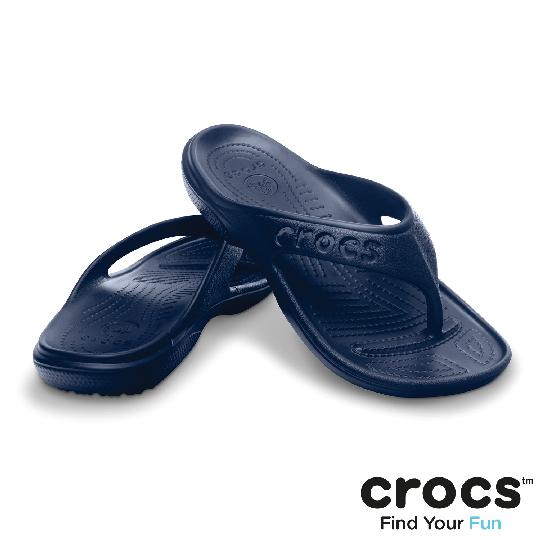 【Crocs】中性-男女- 貝雅人字拖 (深藍色)