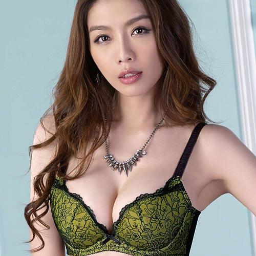 【Audrey】水漾峰情 B-D罩內衣(橄欖綠)