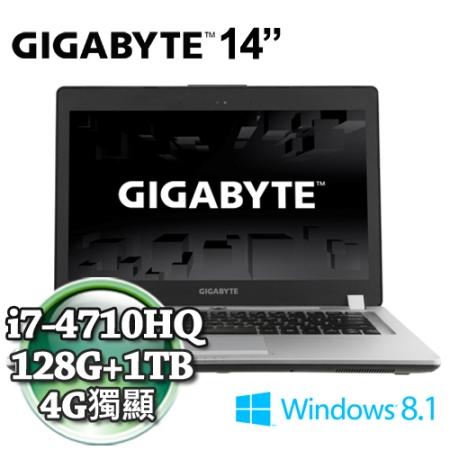技嘉P34GV2-I7-4710/16G/128+1T
