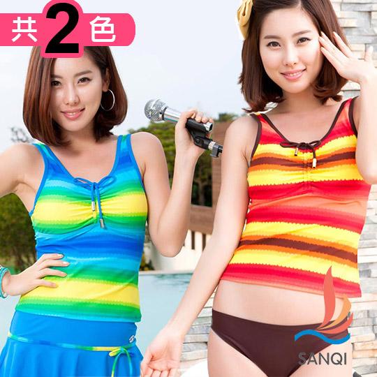 【SANQI三奇-泳衣】人鱼传说 三件式比基尼泳装 泳衣(共2色)