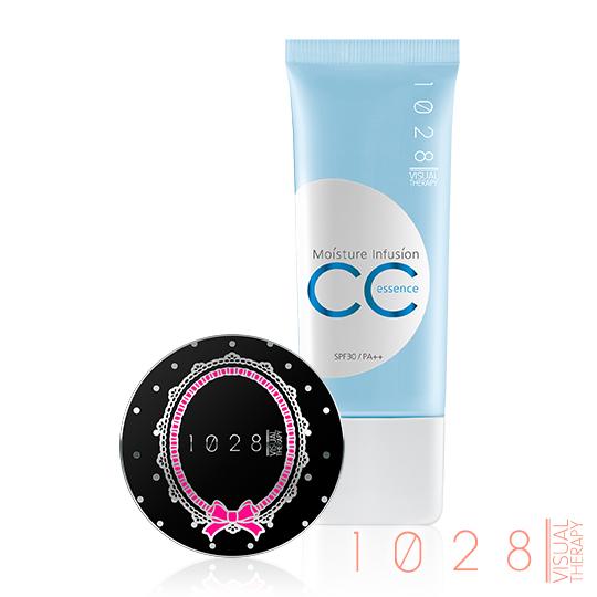 1028 全效保濕CC精華霜SPF30 PA+++ (02 自然膚)+玻尿酸雙采保濕粉餅SPF25★(02粉陶色)-MINI