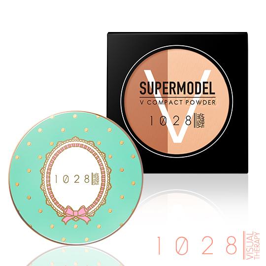 【02粉陶色】1028超模V臉粉餅+蝴蝶結甜心粉漾盒(02限量藍)