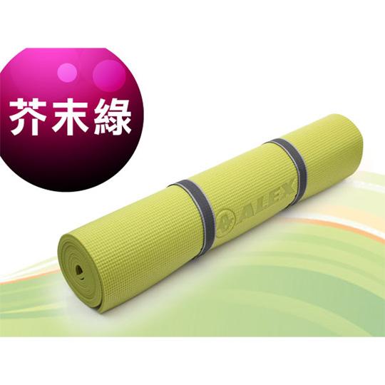 ALEX 瑜珈墊-有氧 塑身 地墊 芥末綠@C-1803-16@