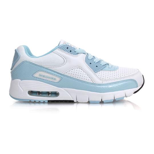 DIADORA 女慢跑鞋-路跑 氣墊鞋 白淺藍@DA4AWC6906@