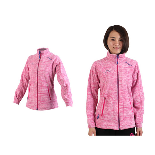 KAPPA 女運動外套-保暖 刷毛 立領外套 粉紅@FC46-C309-1@