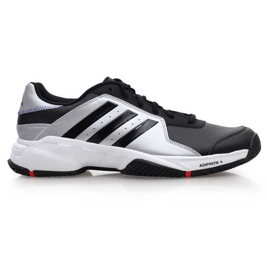 adidas barricade court 男网球鞋 - 爱迪达 黑白银@m21702图片