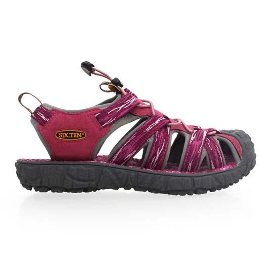 SOFO 女护趾凉鞋-休闲凉鞋 拖鞋 紫红@W81006@