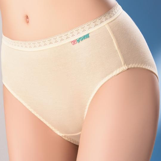 【思薇爾】柔感棉系列M-XXL素面中低腰日用生理褲(柔粉黃)