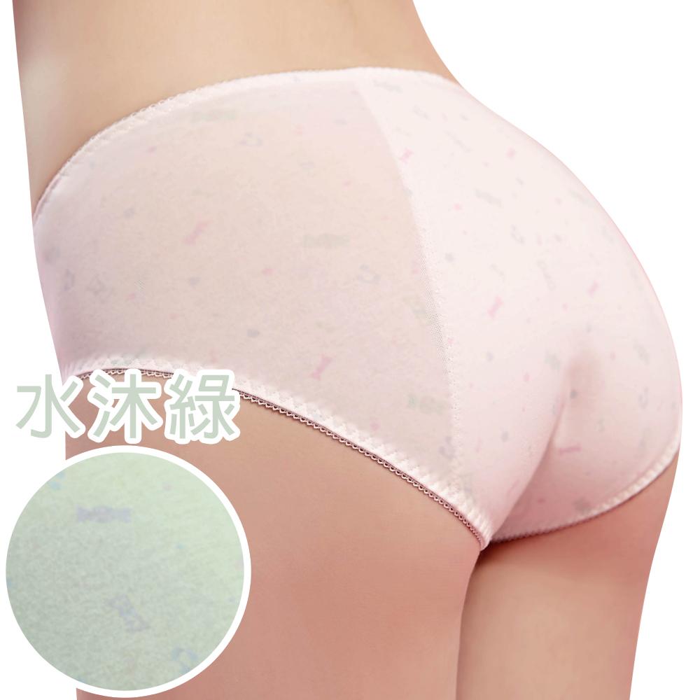 【思薇爾】棒棒糖輕甜風系列M-XXL中腰夜用生理褲(水沐綠)