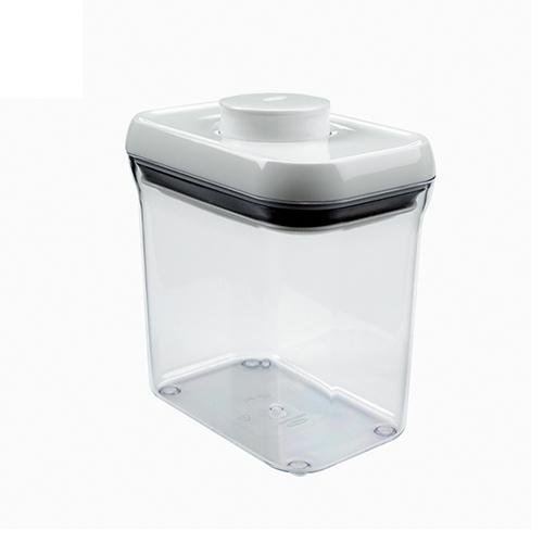 【OXO專業餐廚用品】POP 保鮮收納盒 (白色長方 1400ml)
