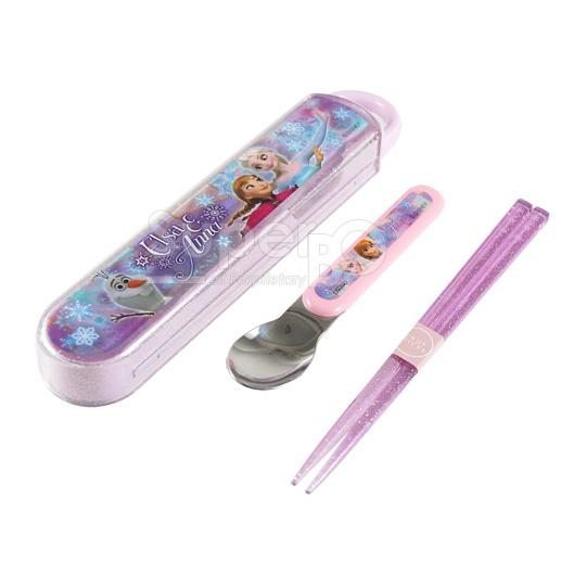 Skater匙筷餐具組-冰雪奇緣(雪花紫)