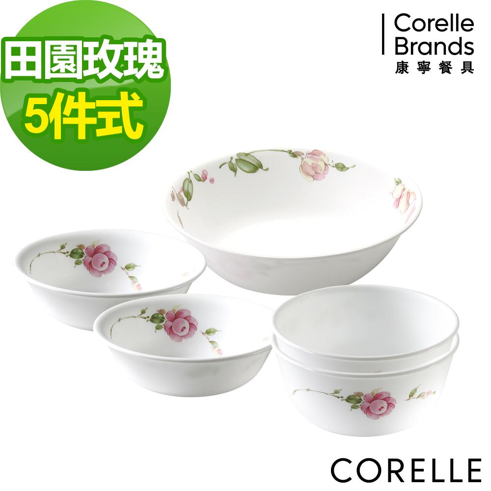 CORELLE 康寧 田園玫瑰5件式餐盤組 (E03)