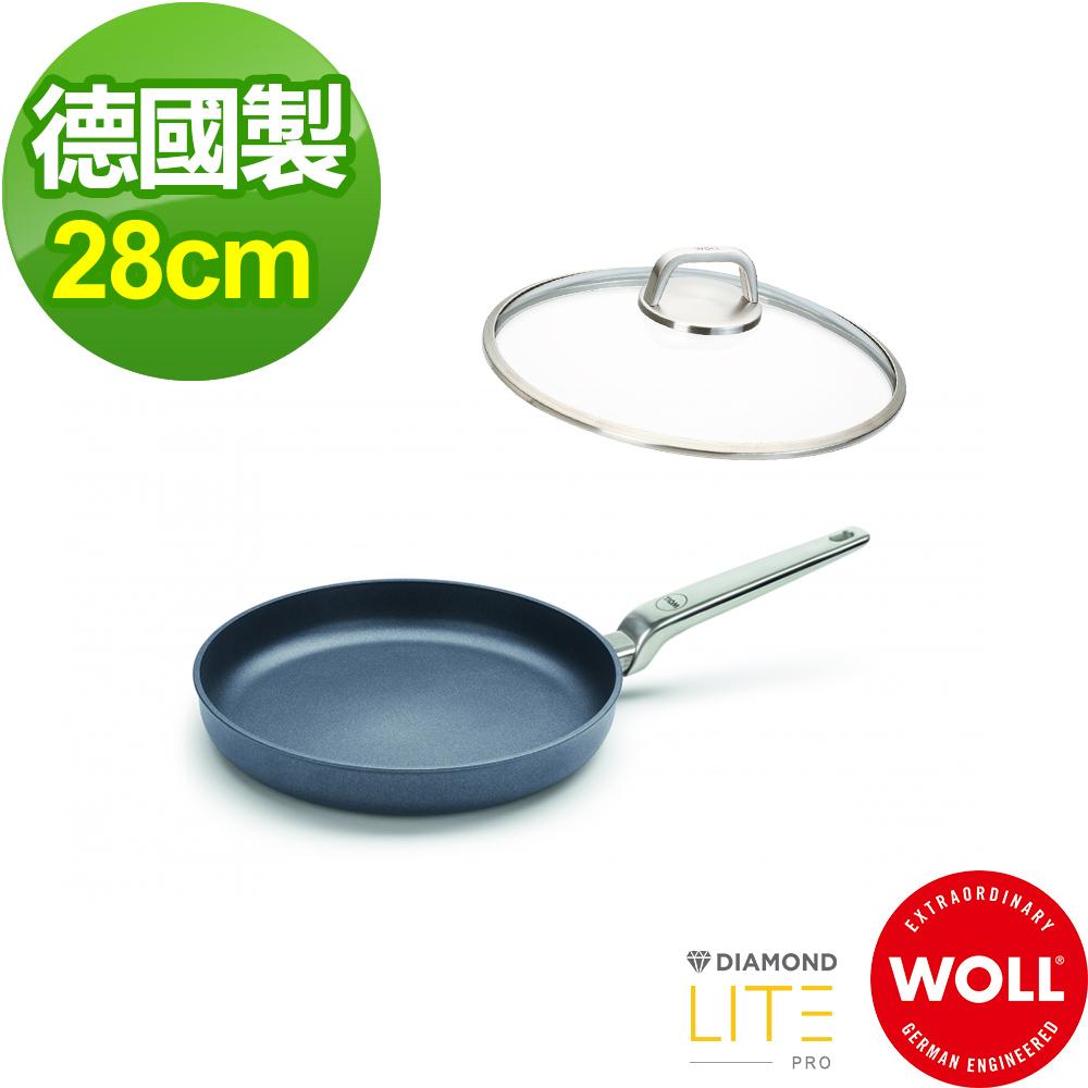 【德國 WOLL】Diamond Lite Pro鑽石系列28cm 平底鍋-含蓋