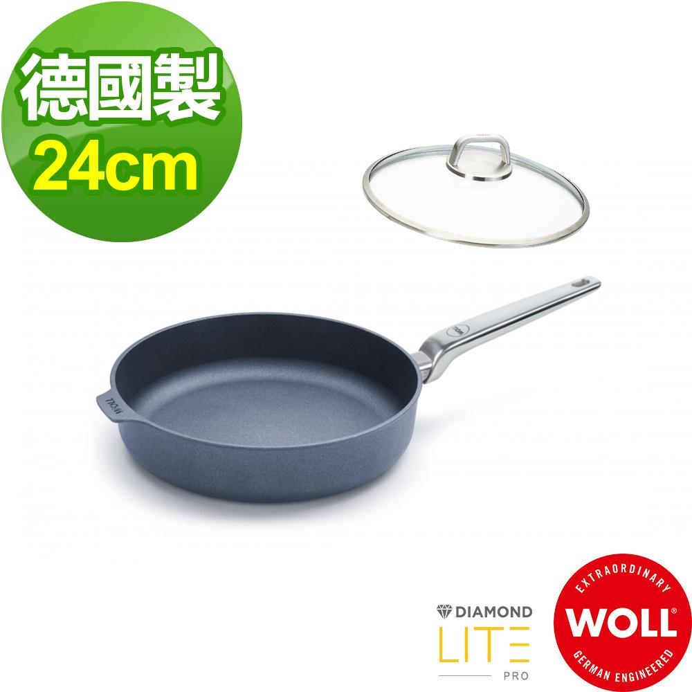 【德國 WOLL】Diamond Lite Pro鑽石系列24cm 深煎鍋-含蓋