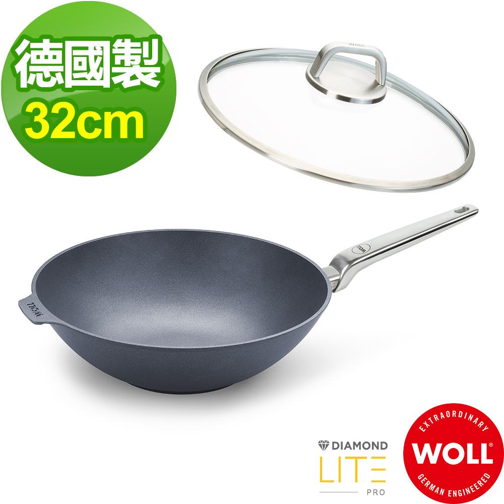【德國 WOLL】Diamond Lite Pro鑽石系列32cm 中華鍋-含蓋