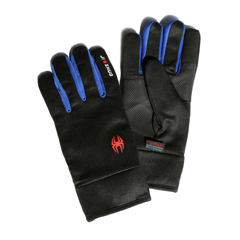 觸控保暖防水手套 - 藍色(XS)