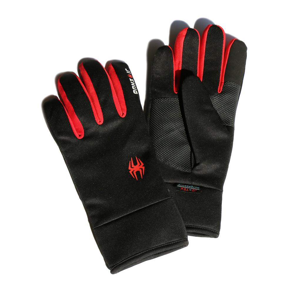 觸控保暖防水手套 - 紅色(M)