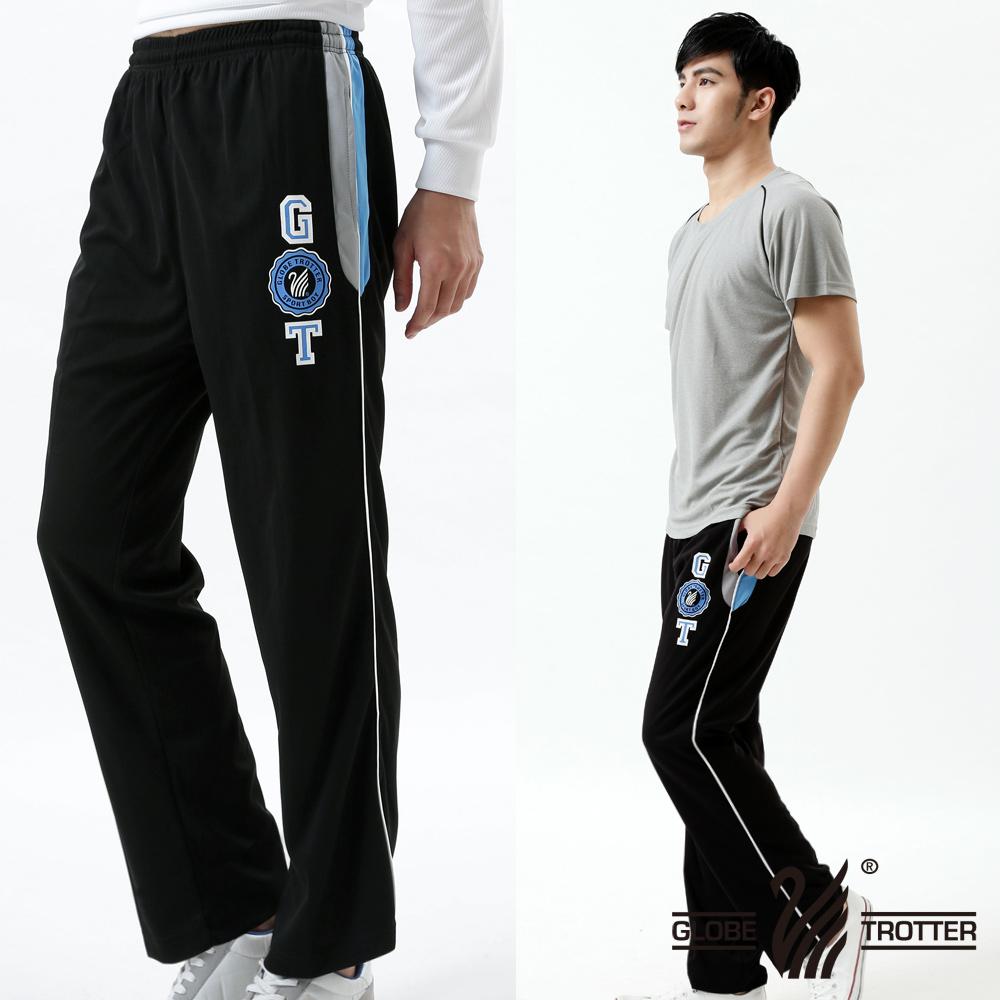 MIT男款抗UV吸排休闲运动长裤P118A_黑色