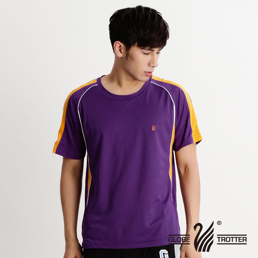 中性款100%MIT圆领吸湿排汗机能衫S079_紫色