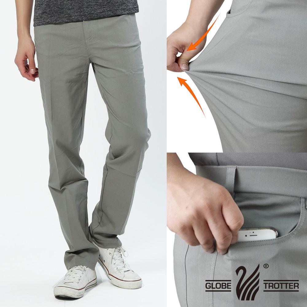 基本款修身弹力时尚休闲长裤P137浅灰