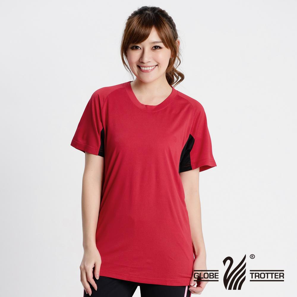 MIT中性款吸排透气圆领衫S0705红色