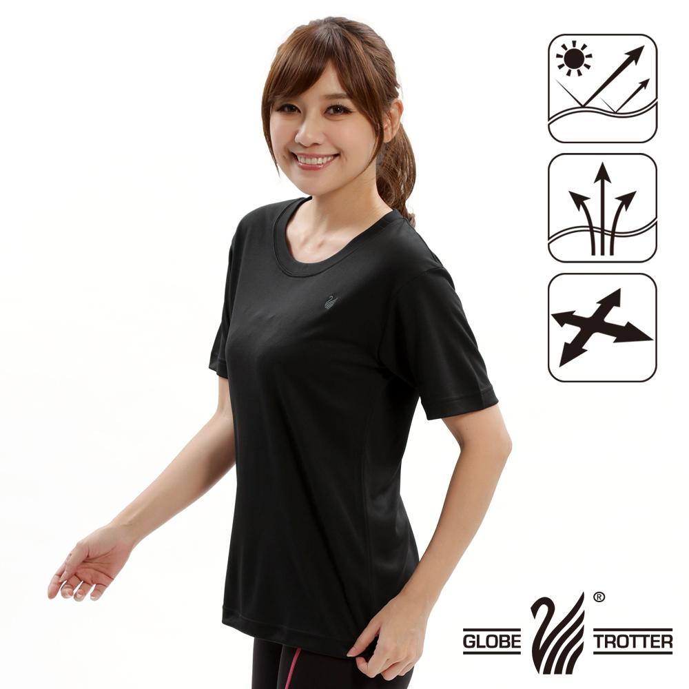 MIT男款抗UV凉爽吸湿排汗圆领衫S107黑色