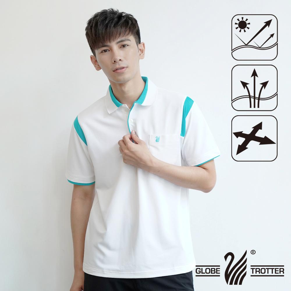 MIT男款休闲抗UV吸湿排汗机能POLO衫SV085白色