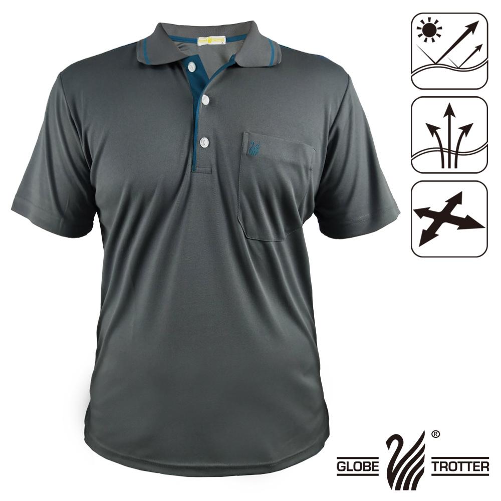 MIT男款休闲抗UV吸湿排汗机能POLO衫GS10032深灰