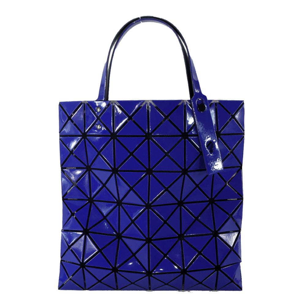 ~歲末感謝季~ISSEY MIYAKE 三宅一生BAOBAO幾何方格亮面6x6手提包 寶藍