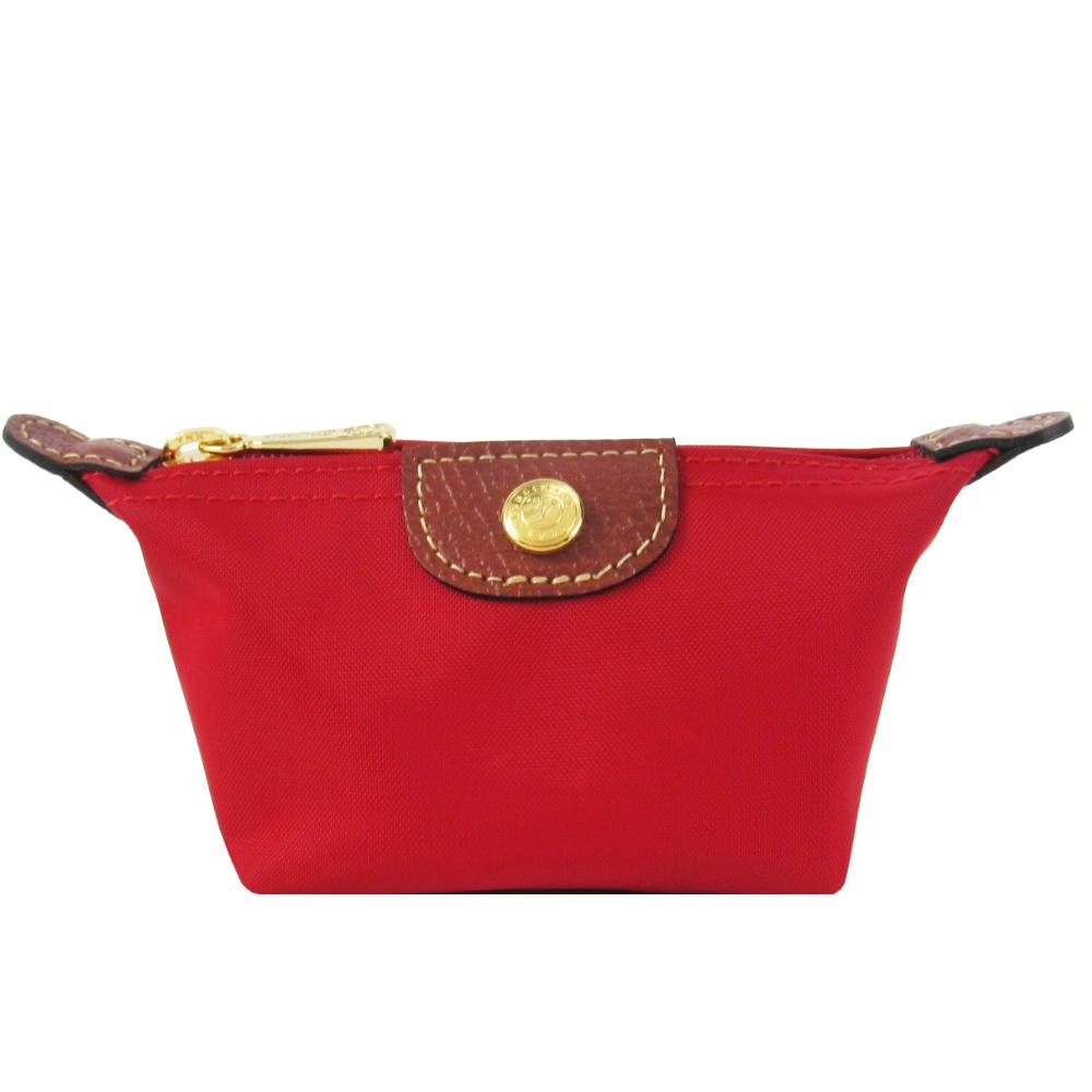 LONGCHAMP Le Pliage 水饺型零钱包(红)
