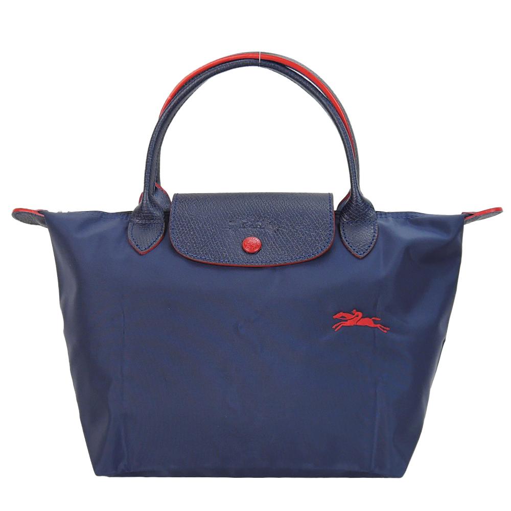 LONGCHAMP Le Pliage Collection 短把折叠水饺包(小/海军蓝)
